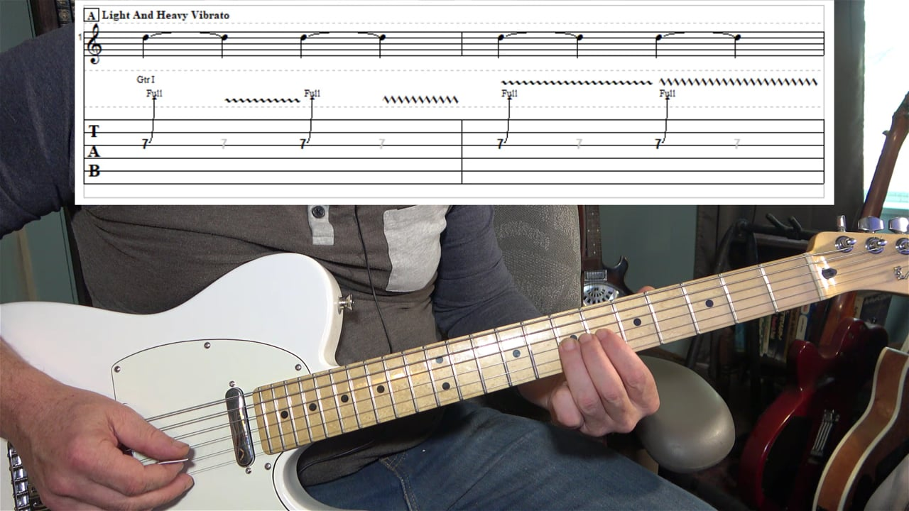 Bends with light and heavy vibrato